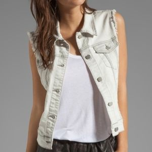 J Brand Sacred Frayed Denim Vest Size XS